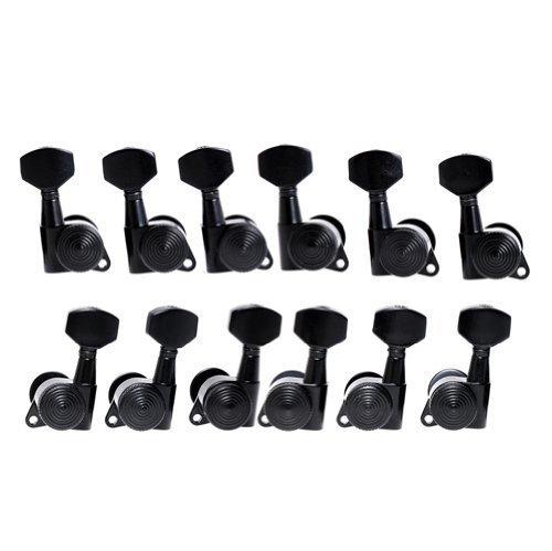 12pcs FA-21 Auto Lock Tuning Pegs Tuners Machine Heads Black Tuning Keys - Locking Tuners Ltd