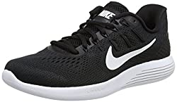 Nike Womens Wmns Lunarglide 8, Black White - Anthracite, 11 M Us