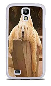 Cute Lazy Polar Bear Picture White Hardshell Case for Samsung Galaxy S4