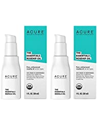 Acure Organics The Essentials Cold Pressed Rosehip Oil For Face and Body, Natural Anti-Aging and Environmental Damage Serum With Vitamin C and E, 1 fl. oz. each (Pack of 2)