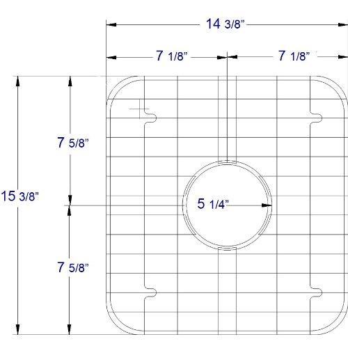 ALFI brand GR3318 Solid Kitchen Sink Grid, Stainless Steel