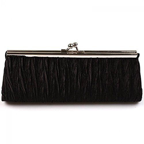 Party Handbag Amapower Rose Bag Club Evening Purse Clutch Pleated Fashion red pwTZaRwBSq