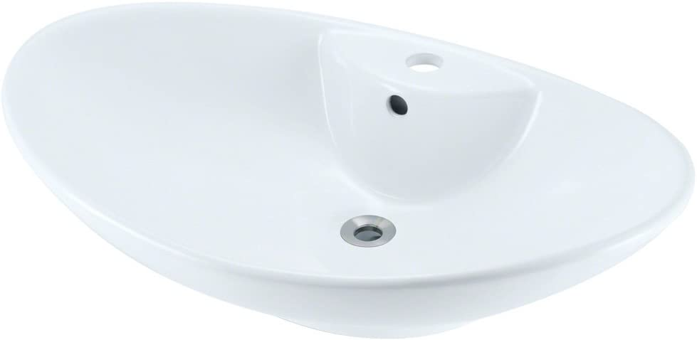 MR Direct V2102-W White Porcelain Vessel Sink