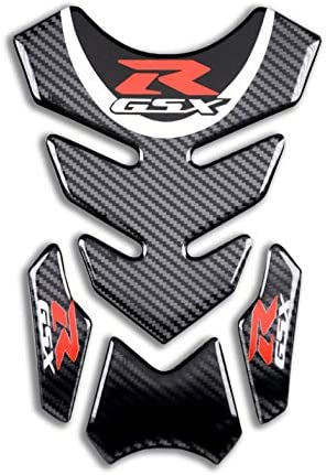 REVSOSTAR Real Carbon Look Motorcycle Reflective Sticker Vinyl Decal Emblem Protection Gas Tank Pad for Gixxer GSXR 600 750 20062016GSXR1000 20072008 GSXR1300 Hayabusa 20082016