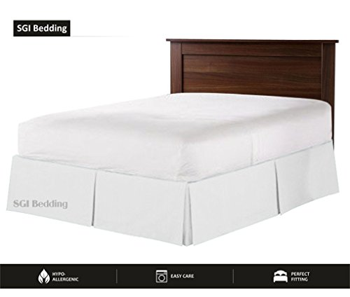 "550 TC Egyptian Cotton Bedding 1X Bed Skirt 12"" Inch Drop Queen (60X80) White Solid"