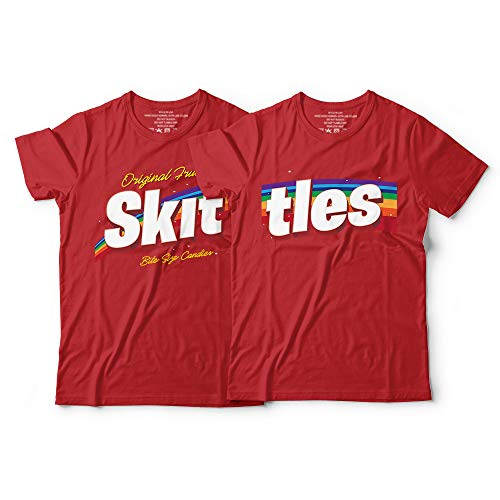 Skittles Matching Couple Halloween Costume Colorful Candy Customized Handmade Hoodie/Sweater/Long Sleeve/Tank Top/Premium T-shirt]()