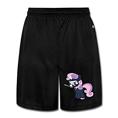 Show Time Men's Pony In Fortress Short Athletics Home Wear Sweatpants Black