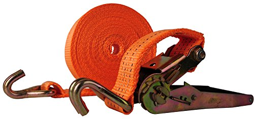 "Premium Ratchet Tie Down, Maxxprime 33' x 2"" 10, 000 lbs Rated Capacity Tie-Down Ratcheting Cargo Truck Straps with Double J-Hooks - German Quality by MAXXPRIME (Image #3)"