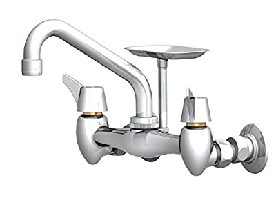 "Union Brass 40A Wall Mount Sink Faucet with 6"" Spout"