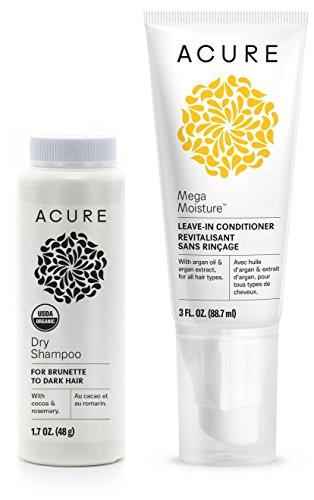 Acure Dry Shampoo For Brunette to Dark Hair and Mega Moistur