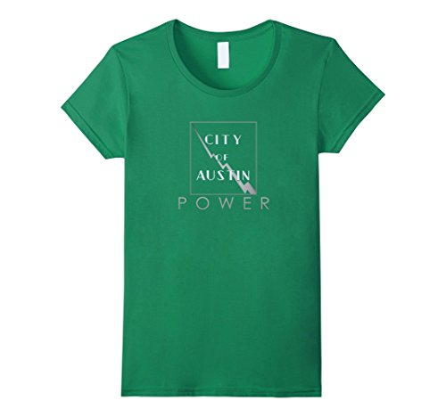Women's City of Austin Power Shirt Medium Kelly Green (Austin Powers Ladies)