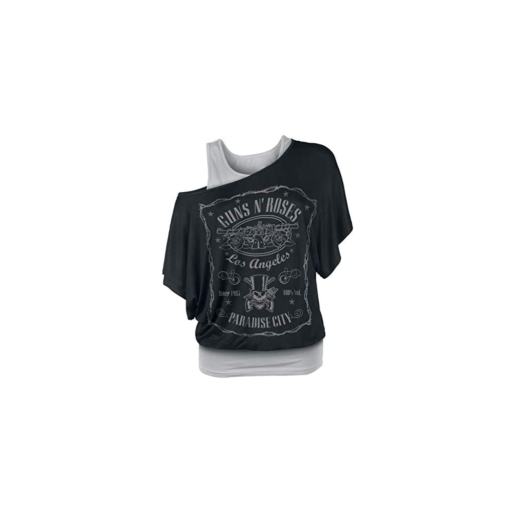 Guns N Roses Paradise City Label Camiseta Mujer