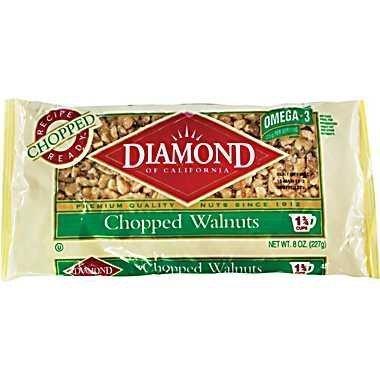 Diamond Chopped Walnuts, 8oz Bag (Pack of 4) by Diamond