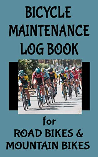 Bicycle Maintenance Log Book for Road Bikes & Mountain Bikes: 5 x 8 Bike 10 Year Maintenance & Repair Record Book with Safety Checks & Trip Cyclocomputer Log for Cyclists Gifts (100 Pages)