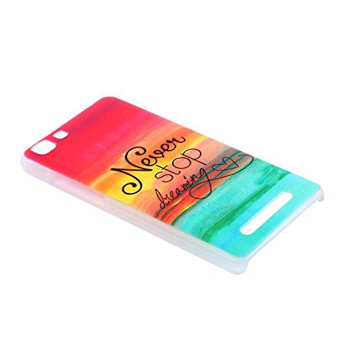 Lusee® Funda de silicona para Cubot Rainbow 3G / 4G 5.0 Suave Cascara TPU colorido Never stop dreaming