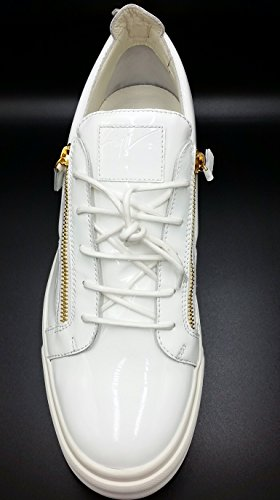 Giuseppe Zanotti London Charol Con Triple Cremallera Low Top Sneaker 17 Us 50 Eu