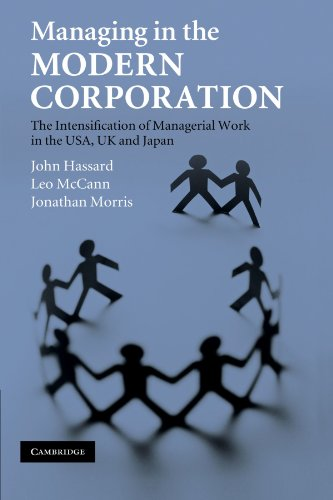 Managing in the Modern Corporation: The Intensification of Managerial Work in the USA, UK and Japan