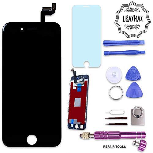 UBaymax Kompatibel iPhone 6S Bildschirm Schwarz LCD Display Touchscreen Kompatibel iPhone 6S Ersatz Bildschirm Front Komplettes Glas kompatibel iPhone 6S