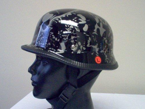 German Sliver Bone Yard Biker Novelty Helmet Xx-large