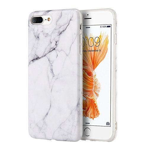 Candy Skin Case Cover - Insten [Marble Design] Ultra Slim Case, Lightwight Anti Slip Soft TPU Rubber Candy Skin Gel Silicone, Protective Phone Case Cover Compatible with Apple iPhone 8 Plus/7 Plus(5.5