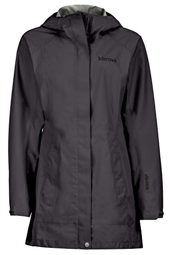 Marmot Essential Women's Lightweight Waterproof Rain Jacket, Gore-TEX with Paclite Technology, Jet Black, Large