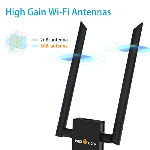 AC1300 WiFi Adapter 2 4/5GHz Dual Band Wireless Adapter USB - Import
