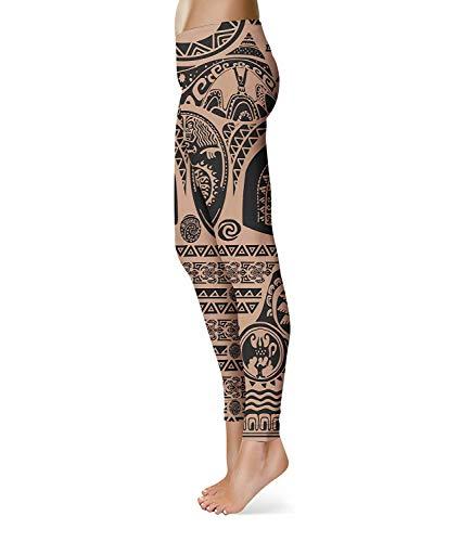 Fitness Da Waist Leggings Workout Brown Skinny Ladies Giovane Printed Fashion Yoga Sport Pantaloni Elastic Stretch wHnnxSqTY