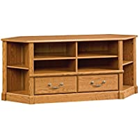Sauder 403818 Orchard Hills Corner Entertainment Credenza, Carolina Oak Finish