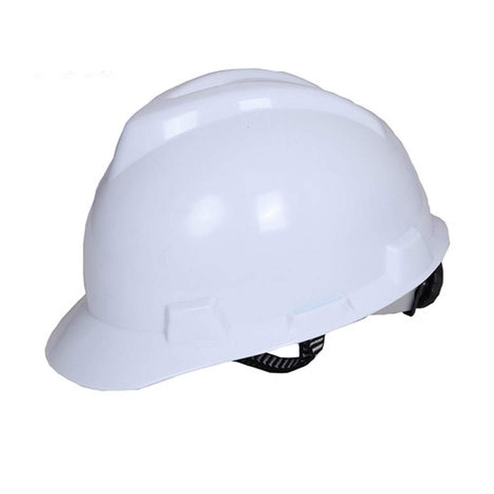 FEI JI Hard Hats - Adjustable Construction Helmet Head Protection Equipment Personal Protective Equipment, For Construction,Home Improvement And DIY Projects/PP Safety Accessories (Color : White)