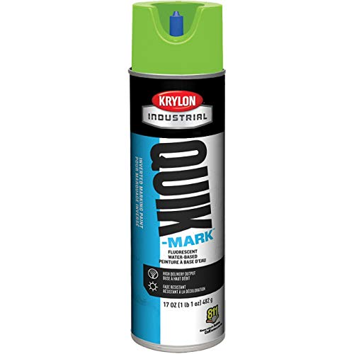 (Krylon A03904004 Quik-Mark Water Based Inverted Marking Paint - APWA Brilliant Green - 20 oz Can (Net Weight 17 oz) (Box of)