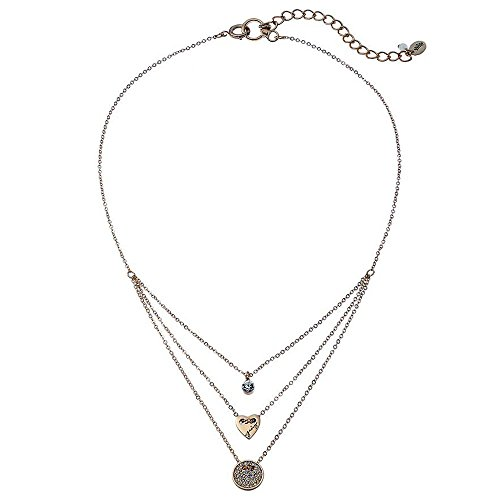 Juicy Couture Heart Circle and Stone Layered Necklace