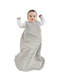 Woolino Baby Sleep Bag, 4 Season, Merino Wool Toddler Sleeping Bag, 18-36m, Earth