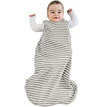Baby Sleeping Bag, 4 Season Basic Merino Wool Wearable Blanket, 6-18m, Earth