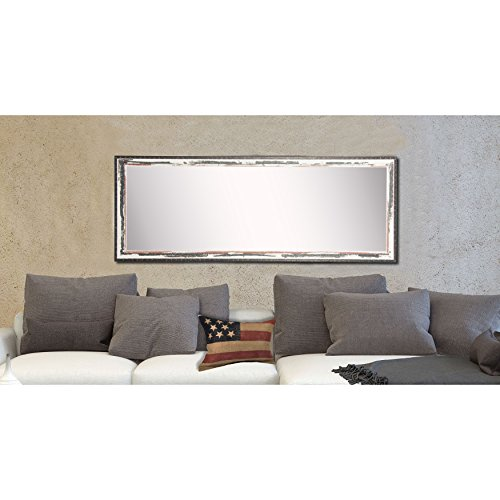 American Made Rayne Rustic Seaside 30.5 x 65.5 Floor Mirror (Against Mirror Lean Wall Large)