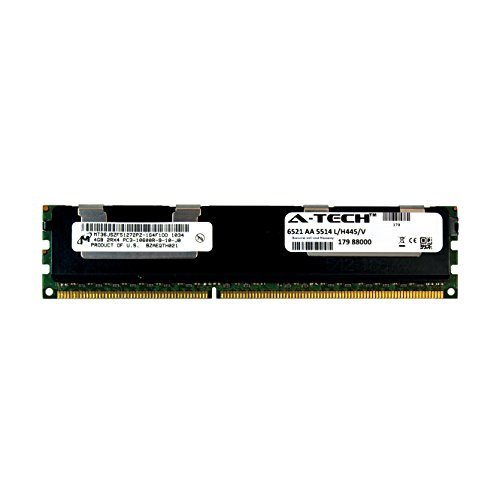 A-Tech Micron 4GB Module PC3-10600 1.5V For Dell Precision Workstation Snpp9rn2c/8g A2626072 A2626093 A2862069 A2862074 A3721482 T5600 T7500 T7600 T5500 T5600 T7500 T7600 T5500 Memory RAM