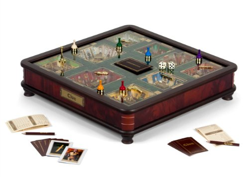 Clue Luxury Edition Board Game by Winning Solutions with Gold Foil-Stamped Board, Deluxe Storage Box and Accessories from Winning Solutions