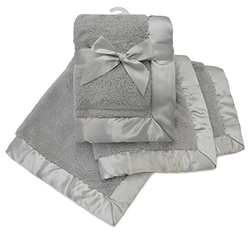 Price comparison product image American Baby Company Sherpa Receiving Blanket,  Gray