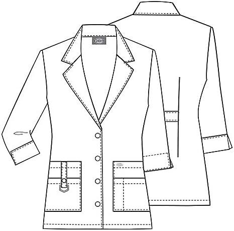 Color Blanco Label Blouse para m/édico y qu/ímico Bata Mixta
