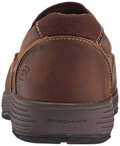 Skechers USA Men's Venick Perlo Slip-on Loafer,Dark Brown,8 M US by Skechers