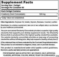 Nature's Blend Cranberry Concentrate 500 Mg 60 Softgels Pack of 6