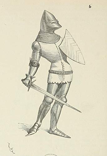 Illustration Print - 'Soldier with Shield and Sword' by Eugène Emmanuel Viollet-le-Duc (1874), 5