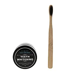 zobeen Bamboo Whitening Tooth Powder Organic Activate Charcoal Toothpaste & Toothbrush