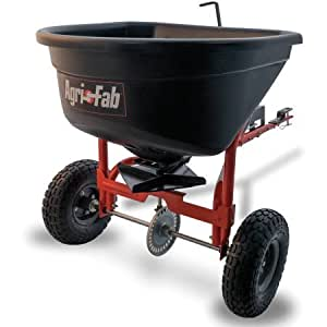 110lb Tow Spreader Steel 10' spread width , Covers Approximately 1/3 acre (17,500 sq ft) with Free Large Leather Work Glove