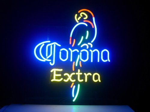 New Corona Extra Parrot Real Glass Neon Light Sign Home Beer Bar Pub Sign L54