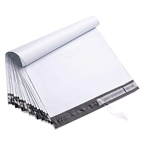 FU Global 50pcs 19x24 Poly Mailers Shipping Envelops Boutique Custom Bags Enhanced Durability Multipurpose Envelopes Keep Items Safe & Protected(White)