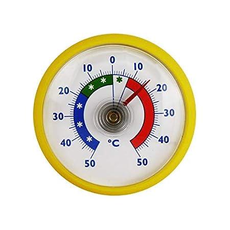 Bimetall Analog Kühlschrankthermometer Kühlschrank Klebe Kühl Thermometer rot
