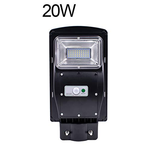 (OrchidAmor 20W/40W/60W LED Solar Powered Outdoor Wall Street Light PIR Motion Sensor Lamp 2019 New)