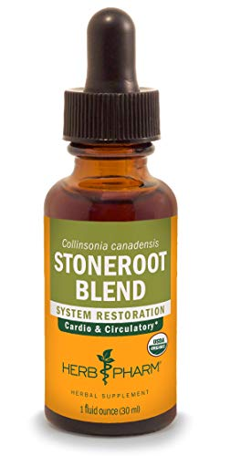 Stone Root Extract - Herb Pharm Certified Organic Stoneroot Blend Liquid Extract for Cardiovascular and Circulatory Support-1 oz