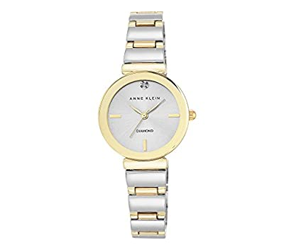 Anne Klein Women's Diamond Dial Two-Tone Polished Bracelet Watch