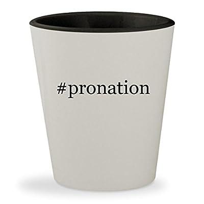 #pronation - Hashtag White Outer & Black Inner Ceramic 1.5oz Shot Glass